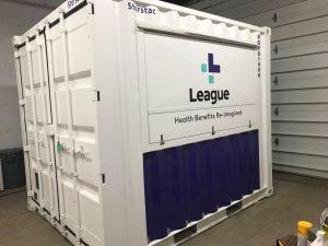 Partial Material Wrap | Equipment Wrap - Container Graphic, Container Wrap, Graphic design - Container Wrap - Vinyl Wrap Toronto