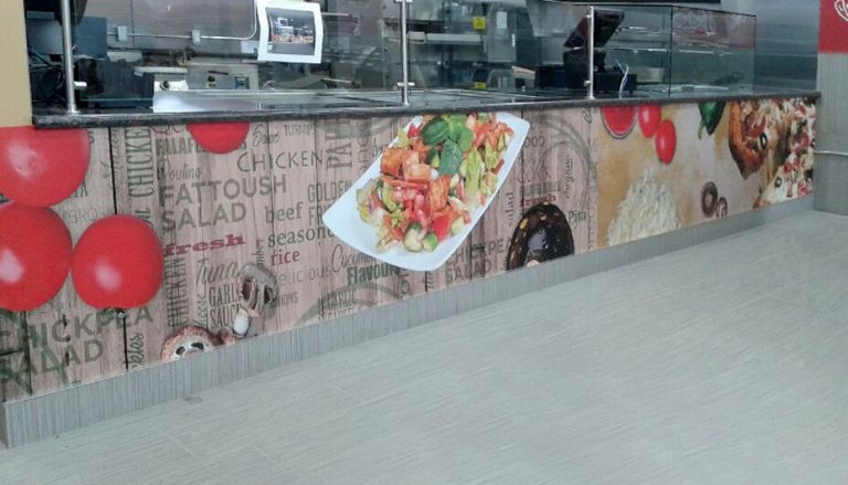 Wall Graphic, Wall Wrap - Signage, Gustoso Panini Wall Wrap- Vinyl Wrap Toronto