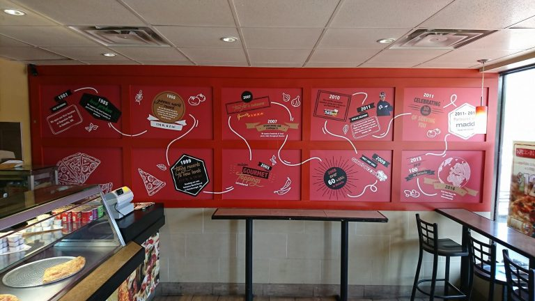 Wall Graphics ,Gino's Pizza Wall Wrap - Signage - Vinyl Wrap Toronto