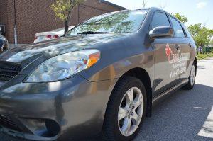 Vinyl Wrap Toronto - Vehicle Wrap In Toronto - Car Wrap - Angle of car lettering