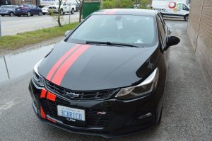 Red racing stripe - Vinyl Wrap Toronto | Vinyl Wrap Toronto - Vehicle Wrap In Toronto - Print Shop