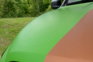 Mopar Show - green and orange wrap | Vinyl Wrap Toronto - Vehicle Wrap In Toronto - Print Shop