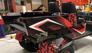 Vinyl Wrap Toronto-Golf Cart - Full Wrap Right Side