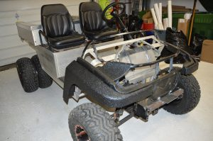 Vinyl Wrap Toronto-Golf Cart Equipment Wrap Before