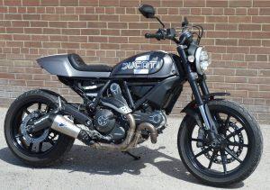 Vinyl Wrap Toronto Ducatti Scrambler 2017 Avery Dennison Black Motorcycle Full Main