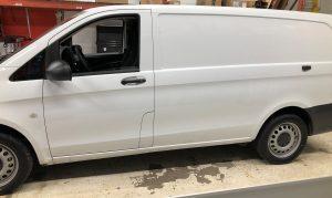 Vinyl Wrap Toronto Mercedes Metris 2020 Avery Dennison White Van Partial CoolCheck Before