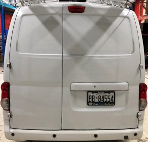 Vinyl Wrap Toronto Nissan NV200 2020 Avery Dennison White Van Decal Home Free Before back