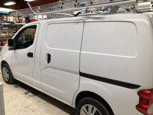 Vinyl Wrap Toronto Nissan NV200 2020 Avery Dennison White Van Decal Home Free Before side