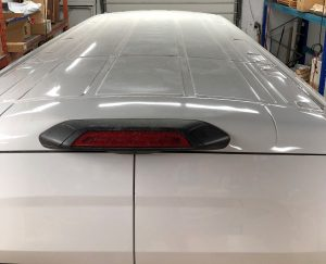 Vinyl Wrap Toronto Ford Transit 2019 Removal/Decals White Van Nusens Roof