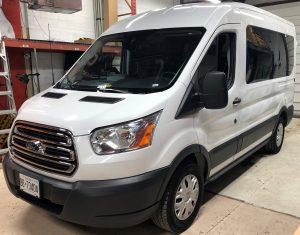 Vinyl Wrap Toronto Ford 150XLT 2019 Avery Dennison White Van Partial Aeropark Before