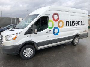 Vinyl Wrap Toronto Ford Transit 2019 Avery Dennison White Van Decals Nusens