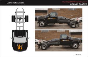 Vinyl Wrap Toronto International CV Series 2020 Avery Dennison Black Truck Full BamBam Vector