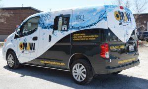 Vinyl Wrap Toronto Nissan Compact Cargo 2019 Avery Dennison White Van Partial Metro Jet Wash Rear