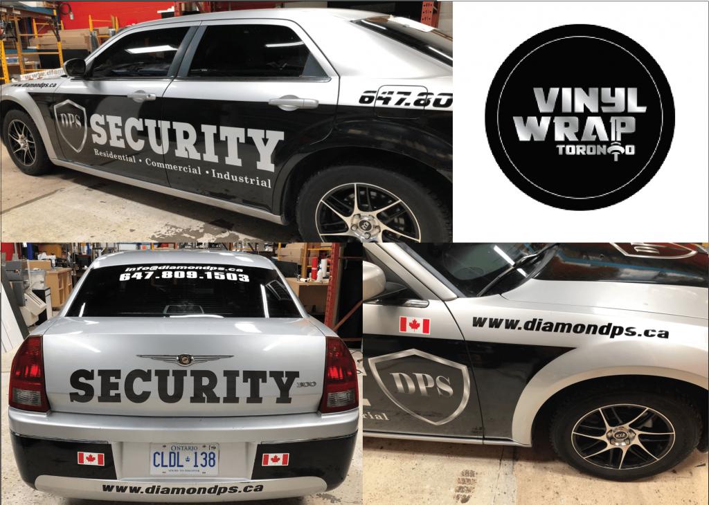 Vinyl Wrap Toronto Chrysler 300 2016 Avery Dennison Silver Car Decal DPS Collage