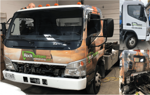 Vinyl Wrap Toronto Mitsubishi Fuso 2019 Avery Dennison White Truck Full Rock Bottom Collage - Vinyl Wrap Cost