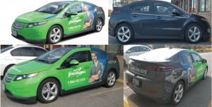 Vinyl Wrap Toronto Chevrolet Volt 2017 Avery Dennison Green Car Partial Grasshopper Collage - Vinyl Wrap Cost