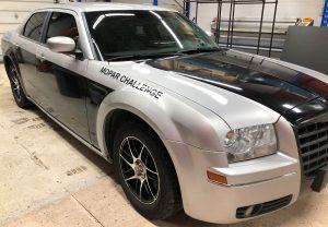 Vinyl Wrap Toronto Chrysler 300 2016 Avery Dennison Silver Car Decal DPS Before Passenger - Vinyl Decals