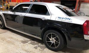 Vinyl Wrap Toronto Chrysler 300 2016 Avery Dennison Silver Car Decal DPS Before Driver