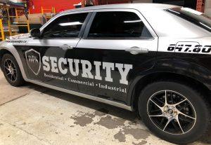Vinyl Wrap Toronto Chrysler 300 2016 Avery Dennison Silver Car Decal DPS After Driver