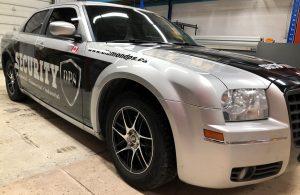 Vinyl Wrap Toronto Chrysler 300 2016 Avery Dennison Silver Car Decal DPS After Passenger