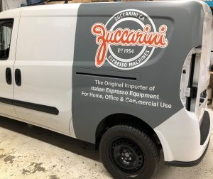 Vinyl Wrap Toronto Ram ProMaster City 2019 Avery Dennison White Van Partial Zuccarini Install - Partial Van Wrap