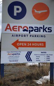 Vinyl Wrap Toronto 2020 Avery Dennison White Equipment Decal Aeropark North 01 - Parking Signs