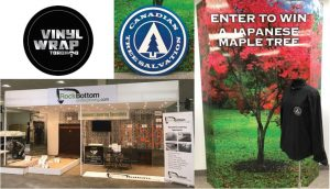 Vinyl Wrap Toronto 2020 Avery Dennison White Signs Full Collage RockBottom Canadian Tree Salvation - Trade Show Signs - 3M Vinyl