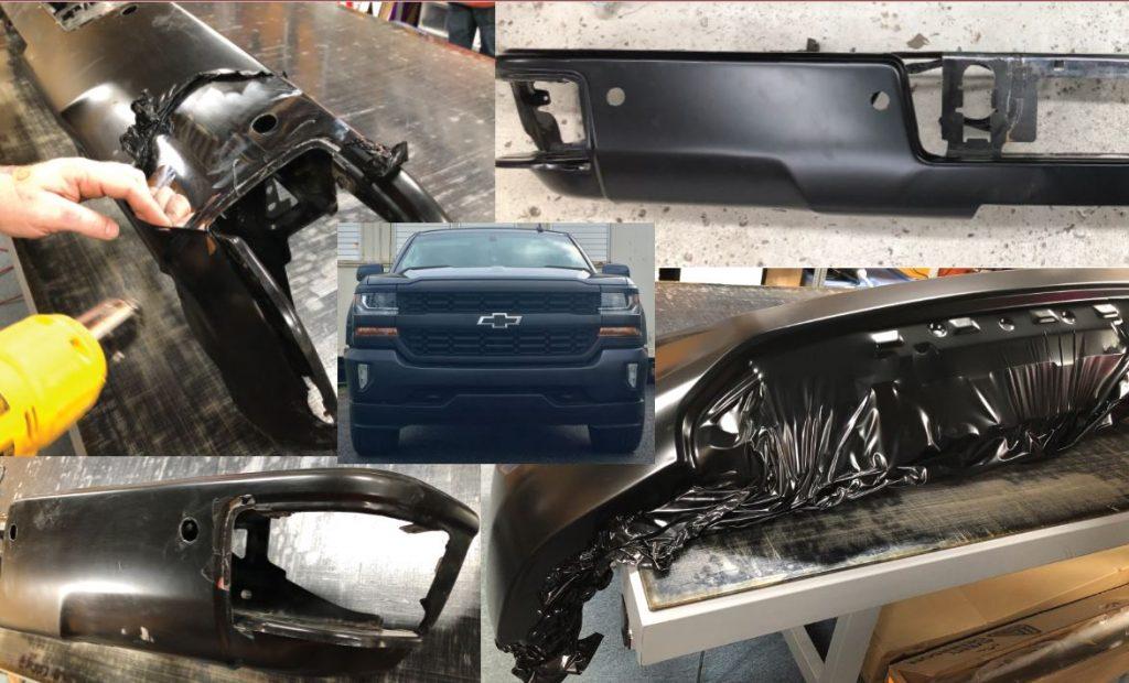 Vinyl Wrap Toronto Chevrolet Silverado 2015 Avery Dennison Black Truck Partial Collage