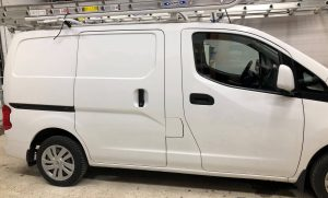 Vinyl Wrap Toronto Nissan NV200 2018 Avery Dennison White Van Decal Home Free (2) Before