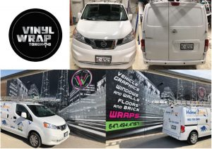 Vinyl Wrap Toronto Nissan NV200 2018 Avery Dennison White Van Decal Home Free (2) Collage - Van Decals