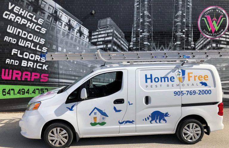 Vinyl Wrap Toronto Nissan NV200 2018 Avery Dennison White Van Decal Home Free (2) Driver