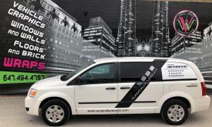Vinyl Wrap Toronto Ram Caravan 2018 Avery Dennison White Van Decals Surgically Clean Air