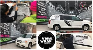 Vinyl Wrap Toronto Ram Caravan 2018 Avery Dennison White Van Decals Surgically Clean Air Collage - Vehicle Wrap Cost