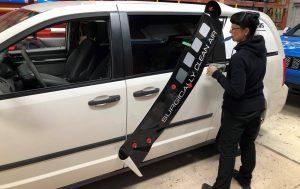Vinyl Wrap Toronto Ram Caravan 2018 Avery Dennison White Van Decals Surgically Clean Air Installation