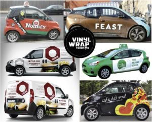 Vinyl wrap toronto Mobile Business Wraps Food Barber Hairdresser Flowers Wraps Coffee - Mobile Advertising - Delivery Vehicles Decals Cost
