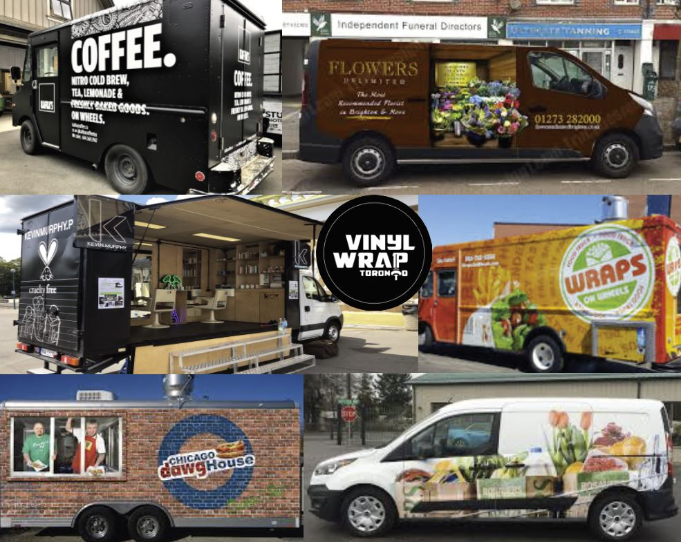 Vinyl wrap toronto Mobile Business Wraps Food Barber Hairdresser Flowers Wraps Coffee