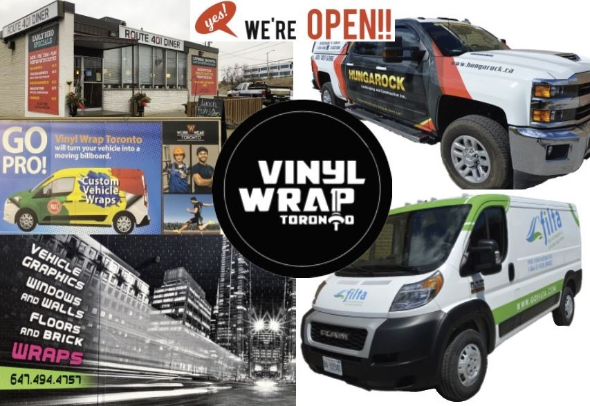 Vinyl Wrap Toronto Back to Work - Yes We're Open