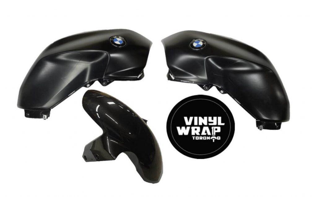 Vinyl Wrap Toronto BMW Bike R1200 Satin Black