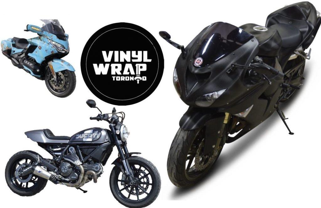 Vinyl Wrap Toronto Black Matte Bike Motorcycle Ducatti Honda