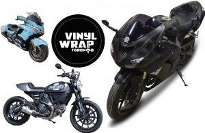 Vinyl Wrap Toronto Black Matte Bike Motorcycle Ducatti Honda - Vinyl Wrap Cost