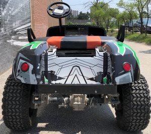 VinylWrapToronto Ezgo 2020 Avery Dennison Green Recreational Full Wrap Back After - Vehicle Wrap Cost