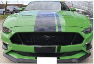 Vinyl Wrap Toronto Ford Mustang Coyote Green Decals Before Front