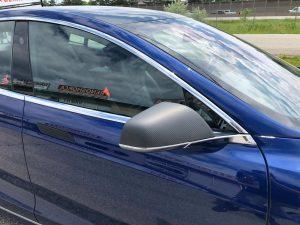 Vinyl Wrap Toronto Tesla Brushed Black Model S Before Decals Front Side