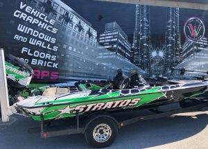 VinylWrapWrap Stratos Boat Full Wrap Avery Dennison Evinrude Right Side After Main - Boat Wrap Cost