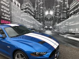 Vinyl Wrap Toronto Ford Mustang - Call now for vehicle wrap cost estimation