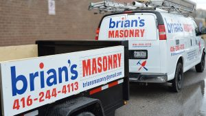 Chevrolet - Express -2008 - Decals - Brian's Masonry - Lettering - Vinyl Wrap Toronto - Vehicle Wrap in GTA - Stickers
