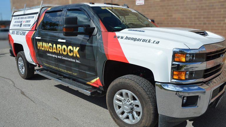 Chevrolet - Silverado - 2500HD - Double Cab Short Box - 2014 - Partial Truck Wrap - Hungarock - Vinyl Wrap Toronto - Decals - Vehicle Wrap in Mississauga - Avery Dennison & 3M