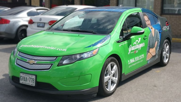 Chevrolet - Volt - Full Car Wrap - Grasshopper - Vinyl Wrap Toronto - Custom Vinyl Wraps Cost