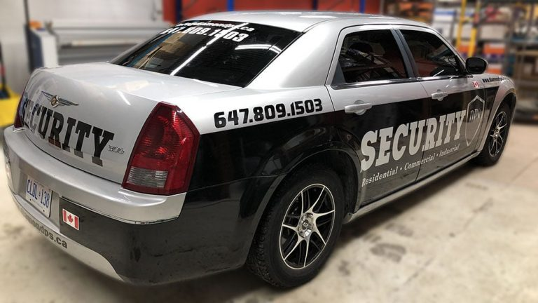 Chrysler - 300 - 2005 - Car Lettering & Decals - DPS - Security - Vinyl Wrap Toronto