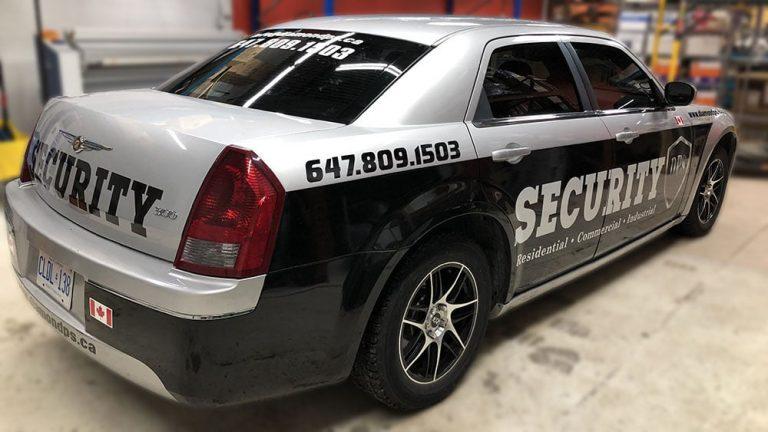 Chrysler - 300 - 2005 - Car Lettering & Decals - DPS - Security - Vinyl Wrap Toronto - Custom Vinyl Wraps Cost